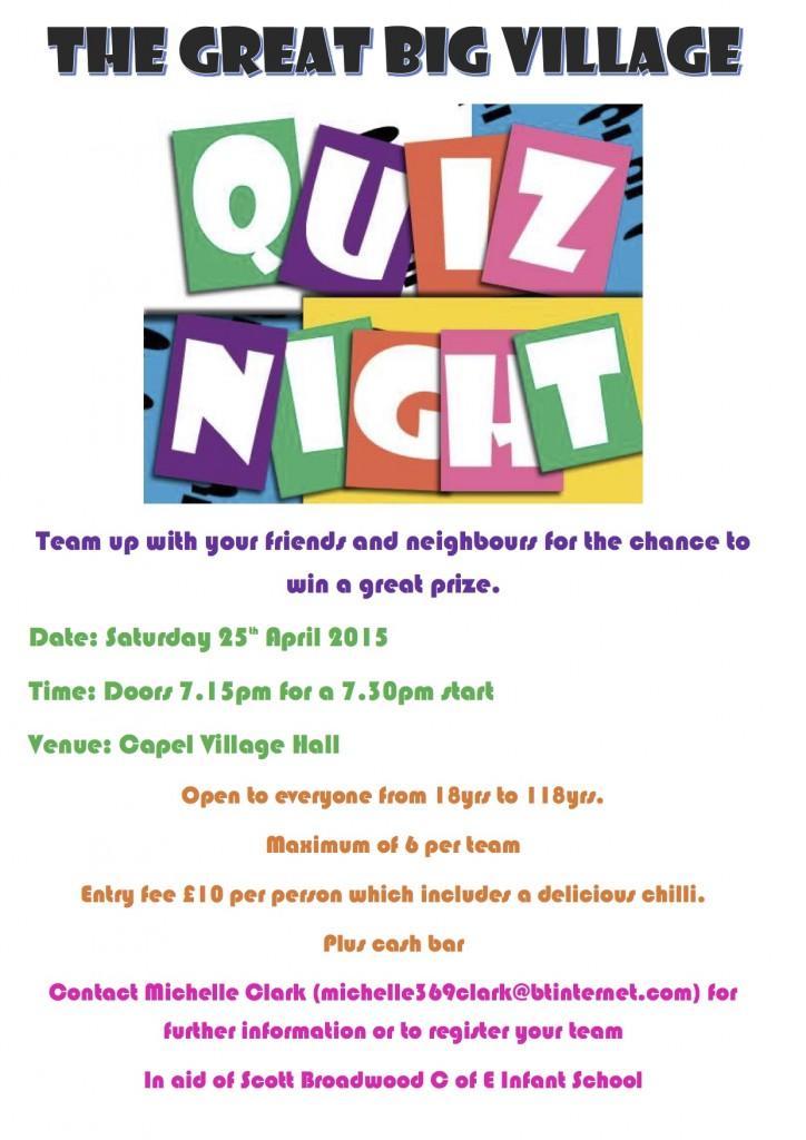 THE GREAT BIG VILLAGE QUIZ NIGHT
