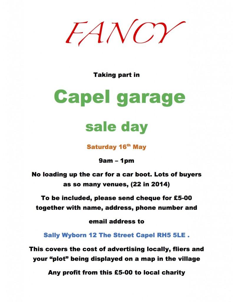 Capel Garage Sale