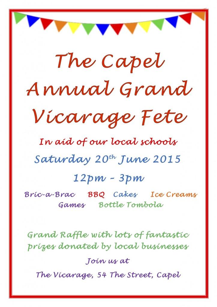 The Capel Annual Grand Vicarage Fete
